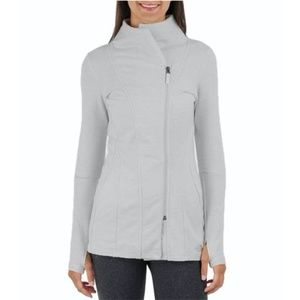 North Face Light Gray Wrap-Ture Yoga Jacket